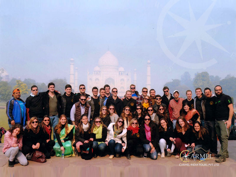 Our guests enjoying a visit to the Taj