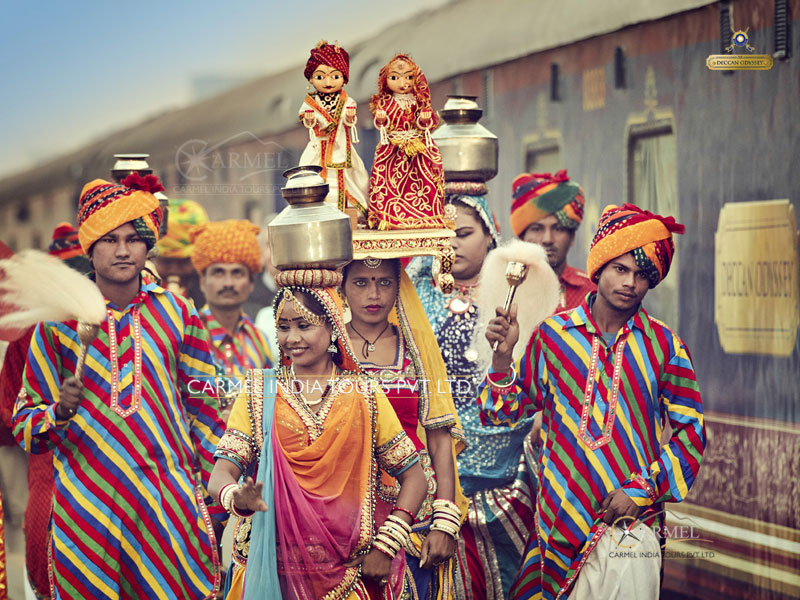 Deccan Odyssey, Indian Sojourn Jaipur traditional welcome